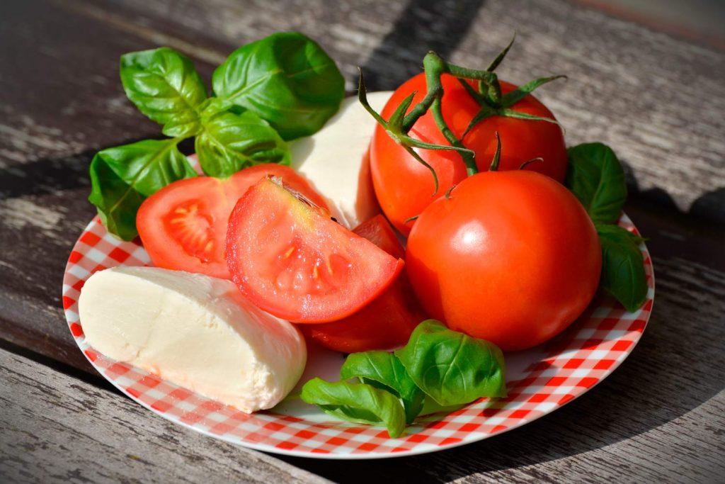 Mozzarella ant Tomatoes of Amalfi Coast, Italy