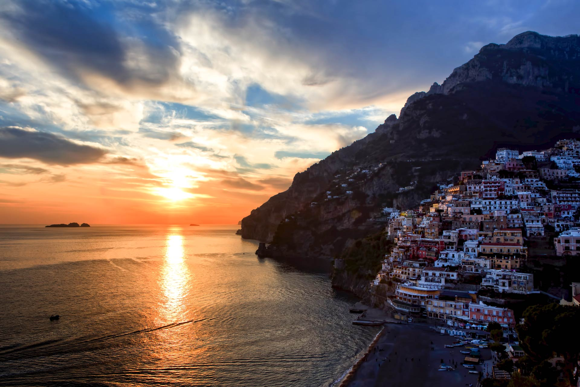 Sunset in Positano