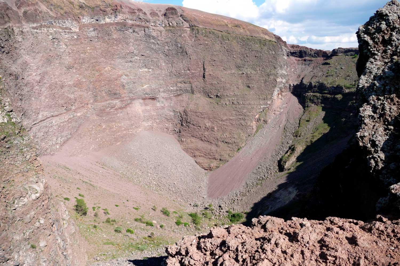View of crater of Vesuvius