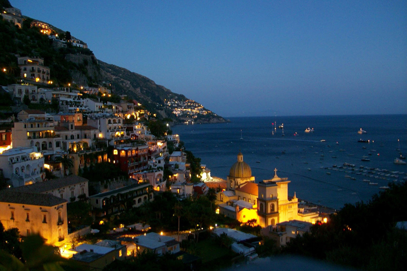 Nightview of Positano Amalfi Coast