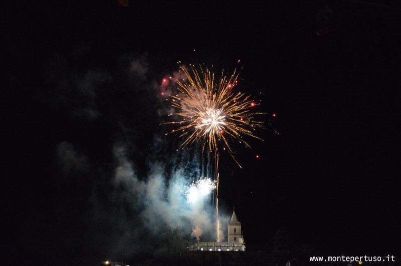 Fireworks in Montepertuso, Positano